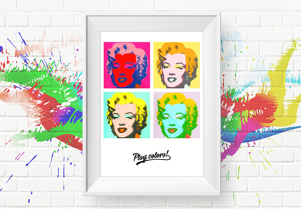 Play colors with Marilyn!