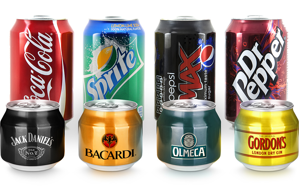 Разработка линейки дизайна безалкогольных напитков в жестяных банках