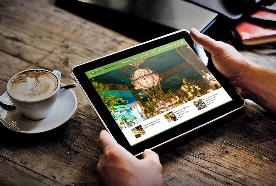 Лизайн сайта для планшетов