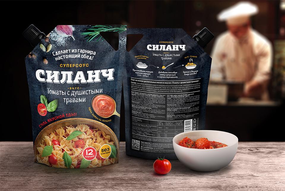 Дизайн упаковки соуса: томатный
